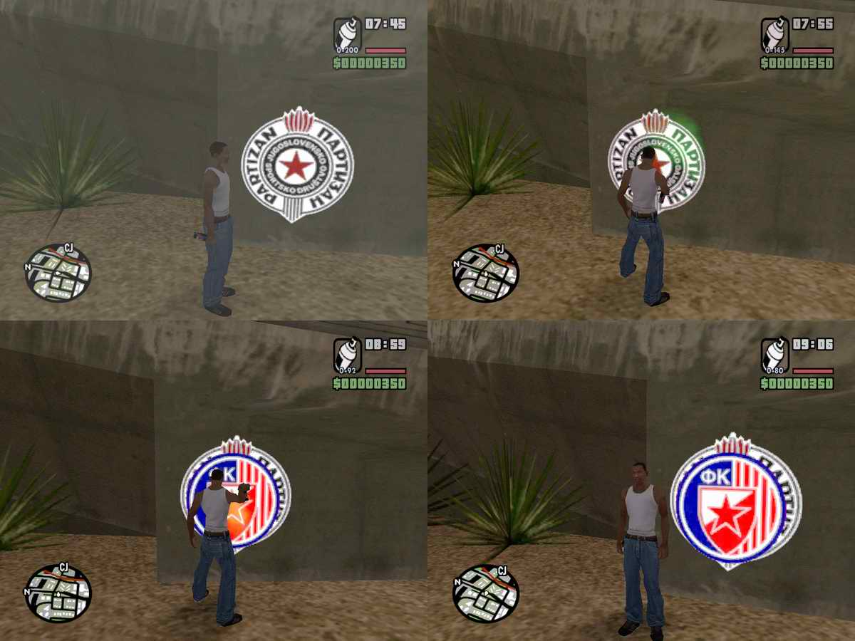 The GTA Place - Red Star Spray Tags 1 0