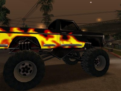 The Gta Place Flames Monster Truck