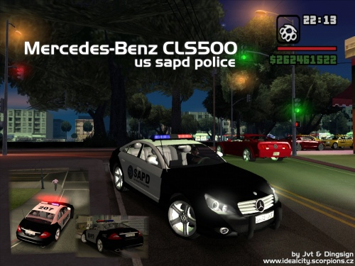 The GTA Place - Mercedes-Benz CLS500 SAPD Police