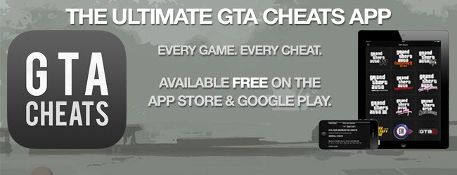The ultimate GTA cheats app - for iPhone, iPad & Android