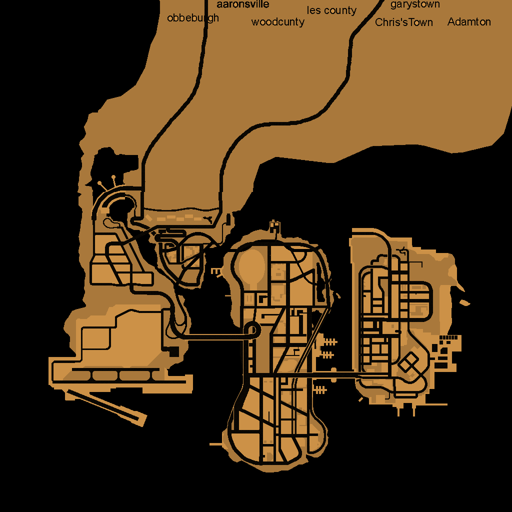The gta place gta iii maps full map of liberty city voltagebd Gallery