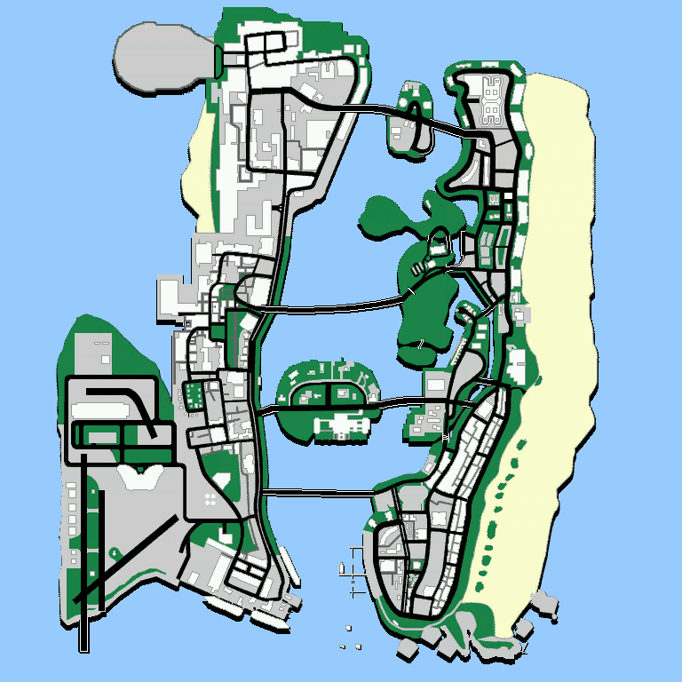 Vice City Map Properties The GTA Place - Vice C...
